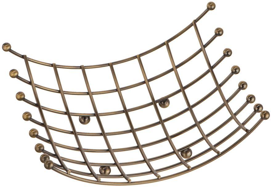 Ваза для фруктов Lemax, цвет: бронза, 23 х 19 х 10 смLF-2002612 BAСтильная подставка для фруктов интересной формы станет не просто функциональной вещью, но и яркой деталью в интерьере. Выполнена из нержавеющей стали.