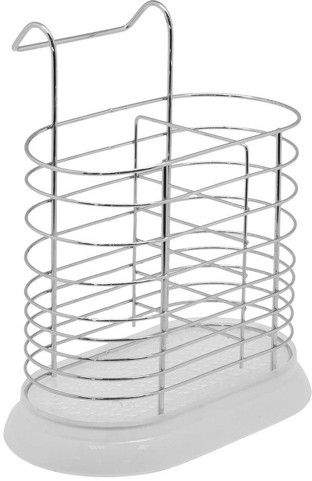 Сушилка для столовых приборов Lemax, навесная, на рейлинг, цвет: белый, хром, 18 х 11 х 20 смMX-039Легкая универсальная сушилка для столовых приборов. Выполнена из нержавеющей стали, оснащена пластиковым поддоном.