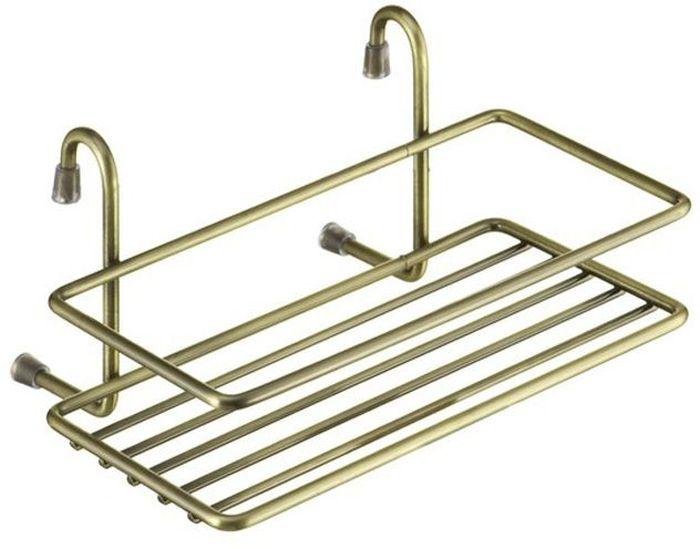 "Полка кухонная ""Lemax"", навесная, на рейлинг, цвет: бронза, 20 х 14 х 10 см"