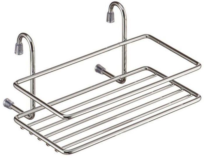 Полка кухонная Lemax, навесная, на рейлинг, цвет: хром, 20 х 14 х 10 см полка brisbane