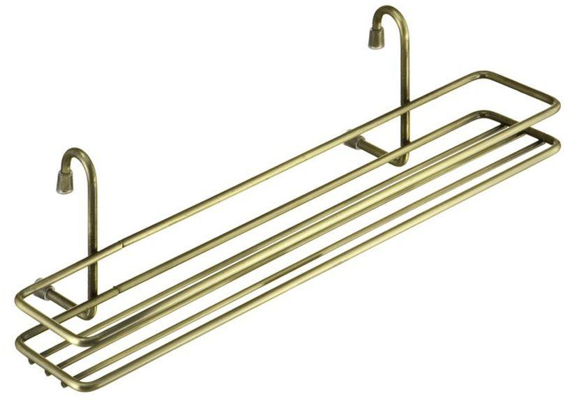 Полочка позволяет эффективно использовать пространство на стене, освобождая рабочую поверхность. Узкая полочка идеальна для соусов и специй. Изготовлена из нержавеющей стали. Легко и надежно вешается на трубу рейлинга.