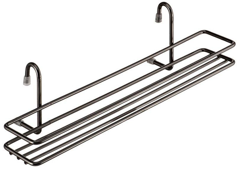 Полка для специй Lemax, навесная, на рейлинг, цвет: хром, 35,8 х 12 х 10,5 смMX-062Полочка позволяет эффективно использовать пространство на стене, освобождая рабочую поверхность. Узкая полочка идеальна для соусов и специй. Изготовлена из нержавеющей стали. Легко и надежно вешается на трубу рейлинга.