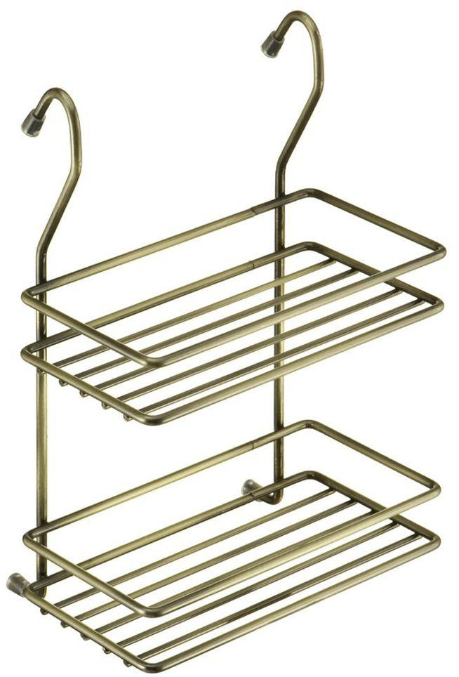 Полка кухонная Lemax, 2-ярусная, навесная, на рейлинг, цвет: бронза, 20 х 11 х 28 смMX-066 BAОптимальное решение, особенно, для небольшой кухни. Используйте пространство на стене, освобождая рабочую поверхность. Узкая полочка идеальна для соусов и специй. Полка изготовлена из стали, надежно крепится на трубу рейлинга, прослужит долго.