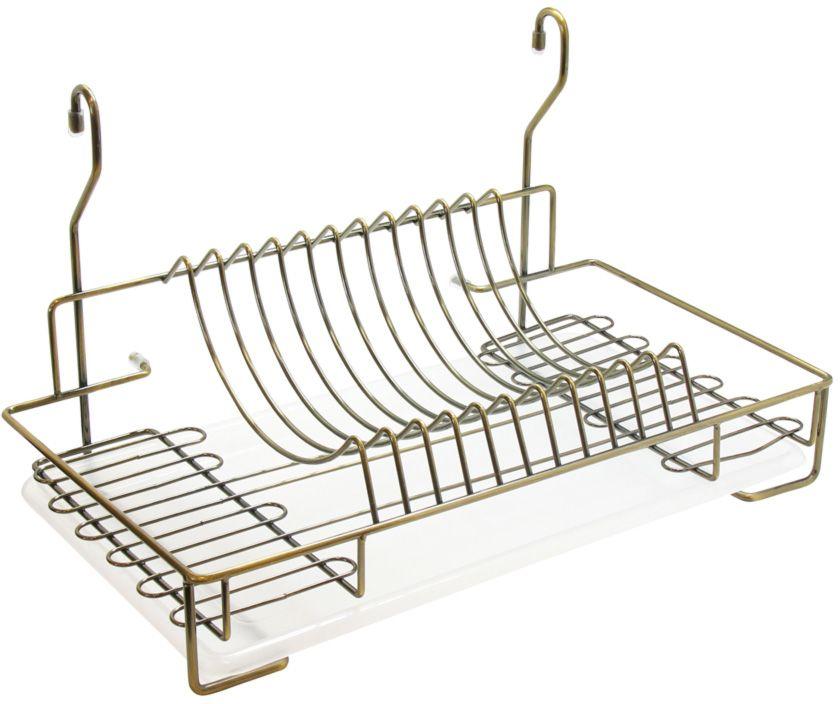 Сушилка для посуды Lemax, с поддоном, навесная, на рейлинг, цвет: бронза, 44 х 25,8 х 26 см чехол для iphone x объёмная печать printio всадница картина карла брюллова