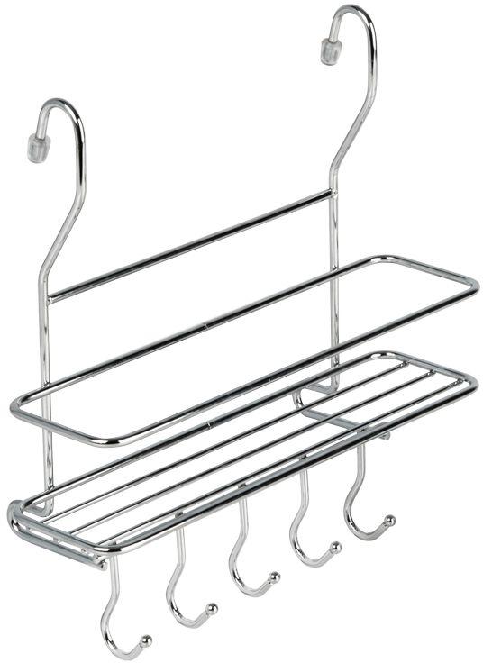 """Кухонная полка """"Lemax"""" - это один из удобных навесных аксессуаров на рейлинг. Позволяет хранить кухонные принадлежности всегда под рукой, обеспечивая  максимальный комфорт на кухне. Наличие 5 крючков у полки позволяет дополнительно разместить полотенца или кухонные аксессуары.  Полка изготовлена из высококачественного металла, легко и надежно крепится на трубу рейлинга, прослужит долго."""
