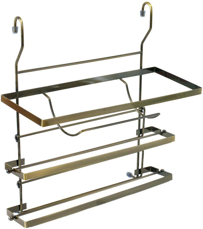 Держатель для полотенец Lemax, на рейлинг, цвет: бронза, 35 х 13,5 х 36 смMX-428 BAДержатель Lemax позволяет использовать пространство на стене, освобождая рабочую поверхность. Держатель идеально подходит для полотенец. Изделие выполнено из нержавеющей стали. Держатель легко и надежно вешается на трубу рейлинга.