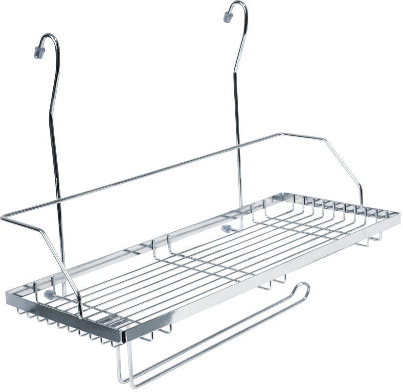 """Кухонная полка """"Lemax"""" - это один из удобных навесных аксессуаров на рейлинг. Позволяет хранить кухонные принадлежности всегда под рукой, обеспечивая  максимальный комфорт на кухне. Наличие держателя позволяет дополнительно разместить полотенца или кухонные аксессуары.  Полка изготовлена из высококачественного металла, легко и надежно крепится на трубу рейлинга, прослужит долго."""