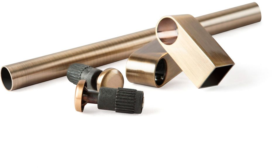 """Комплект рейлинга """"Модерн"""", 2 заглушки, 2 держателя, труба 600 мм.  В индивидуальной ПВХ упаковке."""