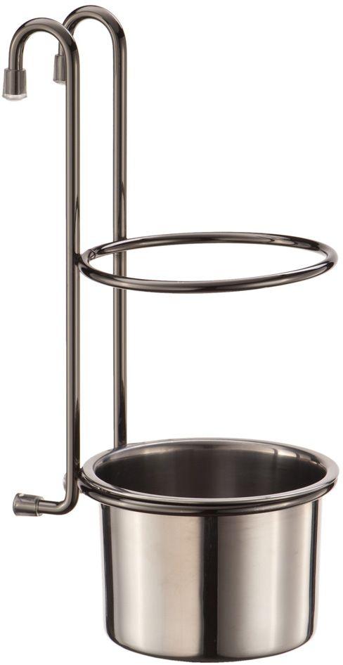 Стакан подвесной Lemax, на рейлинг, цвет: хром, 13,5 х 10,5 х 26 смYJ-G017EСтильный подвесной стакан для рейлинга Lemax выполнен из высококачественного металла, который отличается долговечностью. Бронзовоецветовое решение позволит данному аксессуару гармонично вписаться в кухню, оформленную в классическом стиле. С помощьюэтого практичного домашнего стакана вы сможете хранить различные столовые приборы.