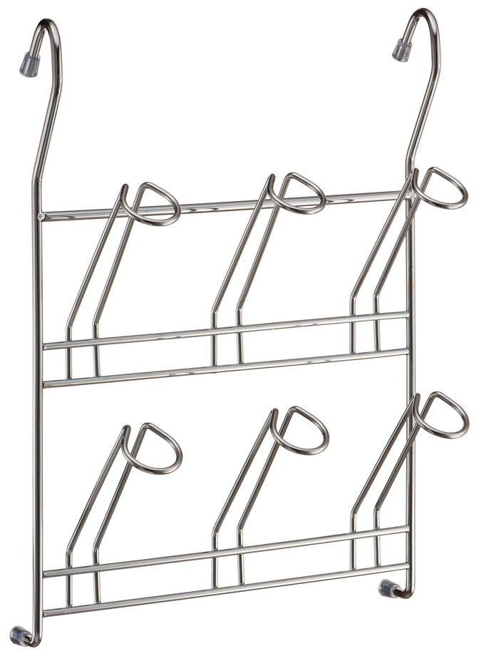 """Навесная полка """"Lemax"""" позволяет использовать пространство на стене, освобождая рабочую поверхность. Полка идеально подходит для хранения кружек. Изделие выполнено из нержавеющей стали. Легко и надежно вешается на трубу рейлинга."""