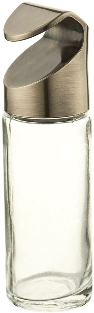 Банка для супучих продуктов Lemax, навесная, цвет: бронза, 4 х 4 х 13,5 смYJ-G901 BAСтеклянная банка для сыпучих продуктов Lemax имеет пластиковую крышку с оформлением под металл, которую легко можно закрепить на рейлинге. Цвет крышки хорошо сочетается с цветом рейлинга и других аксессуаров, что позволит вам оформить всю систему в едином стиле.