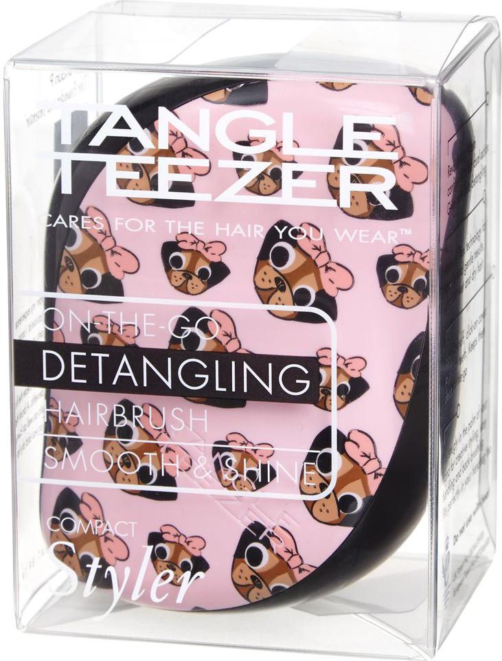 Tangle TeezerРасческа для волос Compact Styler Pug Print Tangle Teezer