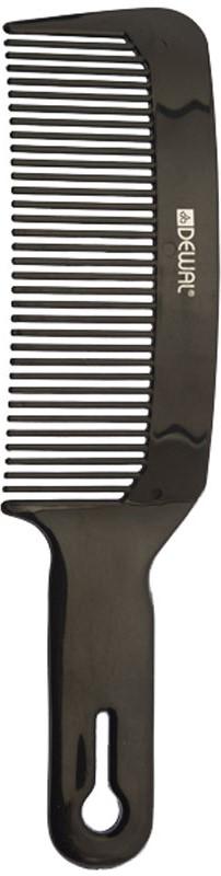 Dewal Расческа для стрижки под машинку, изогнутая, цвет: черный, 20 см