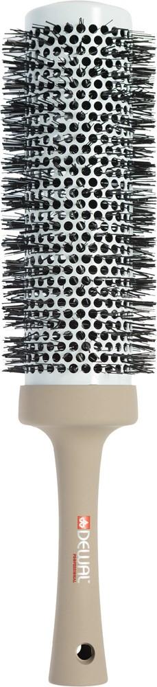 Dewal Термобрашинг Ultra Long, нейлоновая щетина 5,3 х 7 смBUL53Термобрашинг ULTRA LONG с увеличенной рабочей поверхностьюРазработан специально для средних и длинных волос, увеличенная рабочая поверхность позволяет захватить более широкую прядь, волосы можно высушить в три захватаЛегкий и эргономичный термобрашинг 53 / 70 мм с цельной литой ручкой и щетиной из термостойкого нейлона предназначен для бережной укладки волос- Керамико-турмалиновое покрытие; - Удобно подкручивать и делать всевозможные укладки