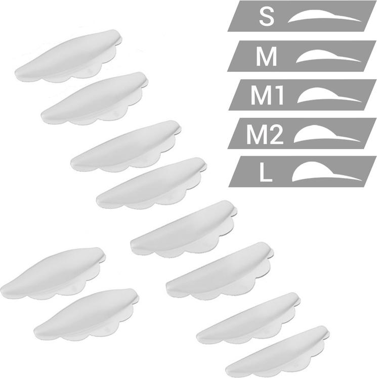 Sexy Lashes Набор силиконовых валиков, 5 размеровSC-00054Набор валиков силиконовых (5 размеров) из 100% медицинского