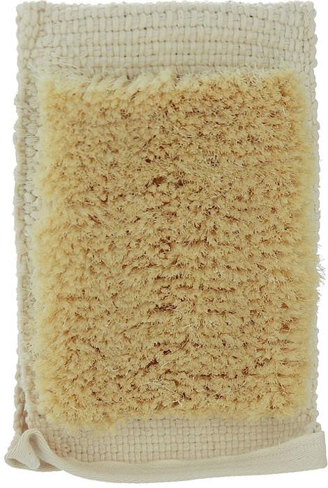 Мочалка-рукавица массажная Riffi, с щетиной. 121 губка для тела riffi цвет бежевый 747