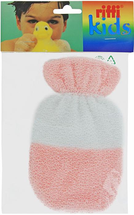 Мочалка-рукавица детская Riffi. 402, цвет в ассормитенте riffi повязка для волос цвет коралловый