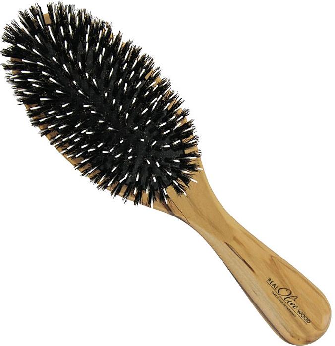 Щетка для волос Riffi, с нейлоновыми зубцами и щетиной5810Массажная щетка Riffi подходит для всех типов волос и должна быть у каждой женщины — овальная, с нейлоновыми зубцами и щетинками. Корус щетки выполнен из натуральной древесины оливкового дерева, подушка - из резины.Нейлоновые зубчики не растягивают и не повреждают волосы, а щетина массирует кожу головы, улучшает кровообращение, стимулируя рост волос и делая их здоровыми и сияющими. Характеристики:Материал: натуральное оливковое дерево, резина, нейлон. Размер (без учета ручки): 11 см x 6 см x 3 см. Длина ручки: 10 см. Производитель: Германия. Артикул:5810. Товар сертифицирован.