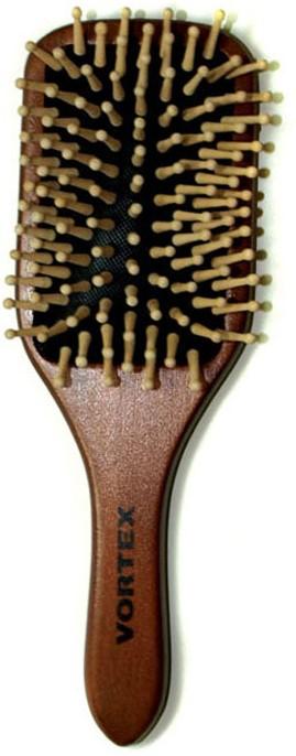 Расческа массажная Vortex, деревянная, 23 см. 5100751007Массажная расческа Vortex прямоугольной формы, деревянная основа которой отполирована, идеально ухаживает за вашими волосами.Деревянные типсы снимают статическое электричество с волос и обеспечивают массаж кожи головы, что улучшает кровообращение и стимулирует рост волос. Расческа легко моется и быстро сохнет. Характеристики:Материал: дерево. Длина расчески: 23 см. Артикул: 51007.
