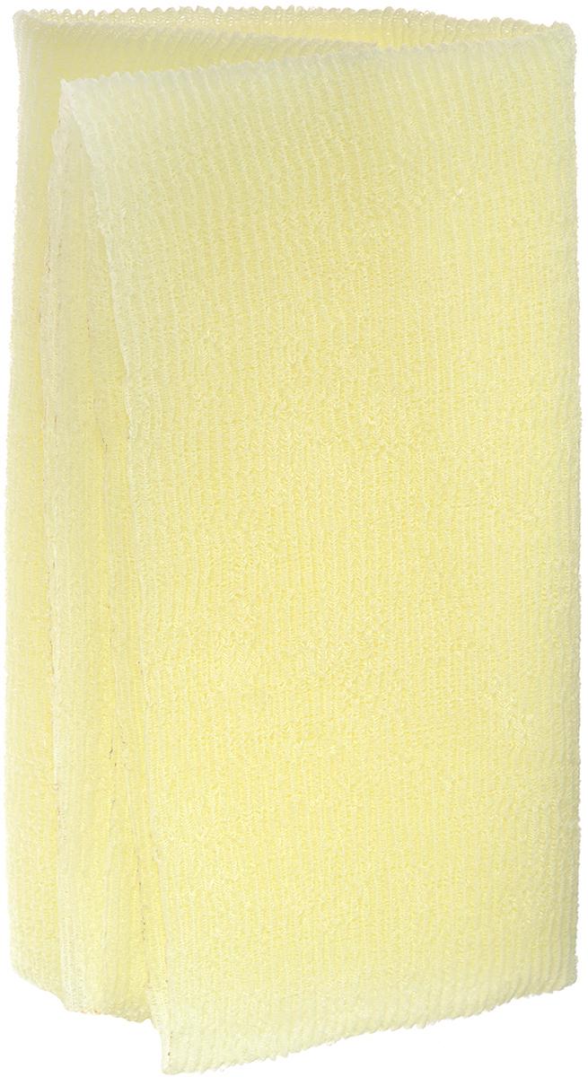 "Мочалка SungBo ""Clean&Beauty Wave"", цвет: светло-желтый, 28 х 95 см"