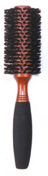 Dewal Расческа круглая, с натуральной щетиной и мягкой ручкой. BRWC602 щетка туннельная dewal 2 х сторонняя пластиковый штифт 9 рядов 1108215
