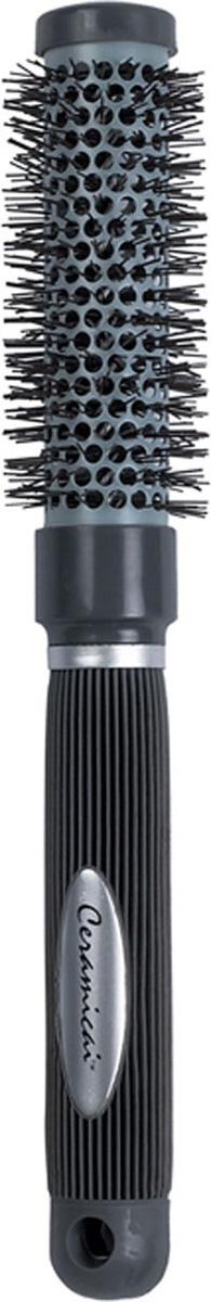 Dewal Расческа круглая Ceramics с керамическим покрытием. BR6977NBR6977NВ ассортименте торговой марки Dewal (Деваль) имеются расчески на все случаи жизни, с помощью которых можно выполнять стрижки, укладки, модельные причёски и другие манипуляции с волосами. Вообще расческа для волос считается для парикмахера самым простым, но при этом незаменимым инструментом. Термобрашинг с керамическим покрытием с нейлоновой щетиной из керамики серого цвета, отлично распределяет тепло по всей поверхности и не пережигает волосы. Прорезиненная ручка с хвостиком создает дополнительный бонус при формировании локонов, прически. Продуманная конструкция, эргономичный дизайн обеспечивают комфортную работу парикмахера. Расчески с легкостью скользят по волосам, удобно ложатся в руку. Товар сертифицирован.