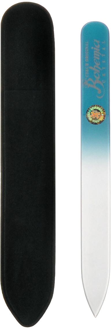 Пилка стеклянная Bohemia, цвет: синий, 12 см. 233cz-1202вм_синяя233cz-1202вм_синяяПилочка Bohemia  не травмирует ногтевую пластину и подходит для ногтей любого вида твердости и натуральности. Она изготовлена из знаменитого чешского стекла, в производстве которого используются природные компоненты, богатые минералами. Отличается необыкновенно красивым дизайном: сочетанием синего цвета, который переходит плавно в белый. Работа с ней доставляет приятные ощущения, особенно для ногтей с повышенной чувствительностью. Замшевый чехол поможет сохранить ее на долгий срок службы. Возможна санитарная обработка.Как ухаживать за ногтями: советы эксперта. Статья OZON Гид