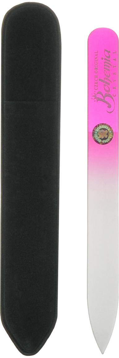 Пилка стеклянная Bohemia, цвет: розовый, 12 см233cz-1202вм_розоваяПилочка Bohemia  не травмирует ногтевую пластину и подходит для ногтей любого вида твердости и натуральности. Она изготовлена из знаменитого чешского стекла, в производстве которого используются природные компоненты, богатые минералами. Отличается необыкновенно красивым дизайном: сочетанием розового цвета, который переходит плавно в белый. Работа с ней доставляет приятные ощущения, особенно для ногтей с повышенной чувствительностью. Замшевый чехол поможет сохранить ее на долгий срок службы. Возможна санитарная обработка.Как ухаживать за ногтями: советы эксперта. Статья OZON Гид