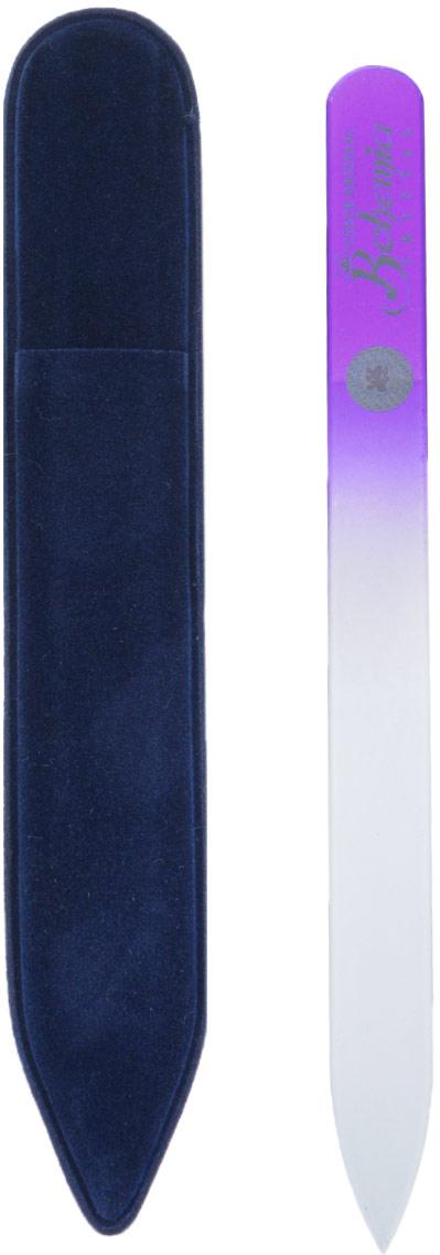 Bohemia Пилочка для ногтей, стеклянная, чехол из замши, цвет: фиолетовый. 1402cz233-1402вм_фиолетовыйСтеклянная пилочка Bohemia подходит как для натуральных, так и для искусственных ногтей. При пользовании стеклянной пилочкой ногти не слоятся и не ломаются. Эта пилочка прекрасно шлифует и придает форму ногтям. При уходе за накладными ногтями рекомендуем пилочку во время работы периодически смачивать в воде. Поверхность стеклянной пилочки не поддается коррозии. К пилочке прилагается замшевый чехол.Материал пилочки: богемское стекло.Как ухаживать за ногтями: советы эксперта. Статья OZON Гид