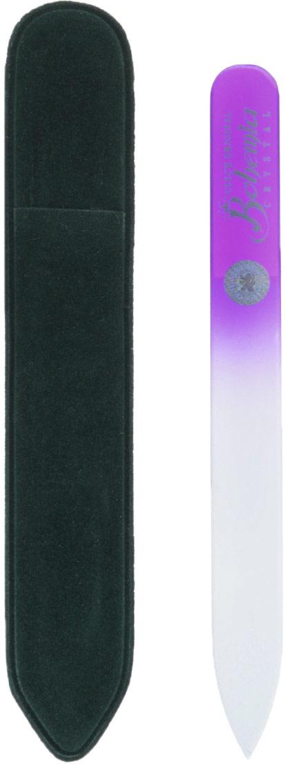 Пилочка для ногтей Bohemia, стеклянная, чехол из замши, цвет: фиолетовый. cz233-1202вмcz233-1202вм_фиолетовыйСтеклянная пилочка Bohemia подходит как для натуральных, так и для искусственных ногтей. При пользовании стеклянной пилочкой ногти не слоятся и не ломаются. Эта пилочка прекрасно шлифует и придает форму ногтям. При уходе за накладными ногтями рекомендуем пилочку во время работы периодически смачивать в воде. Поверхность стеклянной пилочки не поддается коррозии. К пилочке прилагается замшевый чехол.Материал пилочки: богемское стекло.Как ухаживать за ногтями: советы эксперта. Статья OZON Гид