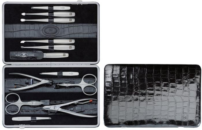 Zwilling Маникюрный набор TWINOX, цвет: черный, отделка крокодил, 12 предметов97053-004Инструменты изготовлены из высококачественной нержавеющей стали. Футляр черного цвета из натуральной кожи. Комплектность 12 предметов: кусачки для ногтей, кусачки для кутикулы, ножницы для ногтей, ножницы для кутикулы, 3 пинцета: скошенный, прямой, остроконечный; пилочка, 4 металлических маникюрных инструмента: для отодвигания кутикулы, для чистки под ногтями и два для обрезания кутикулы. Инструменты предохранять от падения на пол. Время от времени смазывать чистым маслом область соединения, винт, внутреннюю часть и режущие кромки кусачек и ножниц. Использовать только по назначению! Затачивать инструменты у специалиста. Хранить в недоступном для детей месте. Изготовитель: Цвиллинг Джей.Эй. Хенкельс АГ, Грюневальдер Штр., 14-22 Д-42657 Золинген, Германия (Zwilling J.A. Henckels AG, Grunewalder Str.14-22 D-42657 Solingen Germany)Как ухаживать за ногтями: советы эксперта. Статья OZON Гид