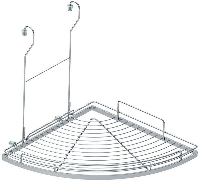 Полка кухонная Lemax, угловая, навесная, на рейлинг, цвет: хром, 28 х 28 х 39,5 смMX-421280 х 280 х 395 мм