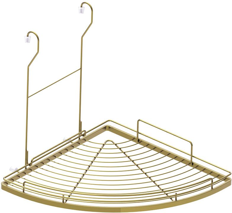 Полка кухонная Lemax, угловая, навесная, на рейлинг, цвет: бронза, 28 х 28 х 39,5 смMX-421 BA280 х 280 х 395 мм