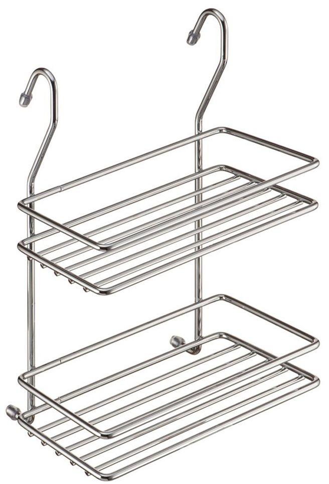 Полка кухонная Lemax, 2-ярусная, навесная, на рейлинг, цвет: хром, 20 х 11 х 28 смMX-066Оптимальное решение, особенно, для небольшой кухни. Используйте пространство на стене, освобождая рабочую поверхность. Узкая полочка идеальна для соусов и специй. Полка изготовлена из стали, надежно крепится на трубу рейлинга, прослужит долго.