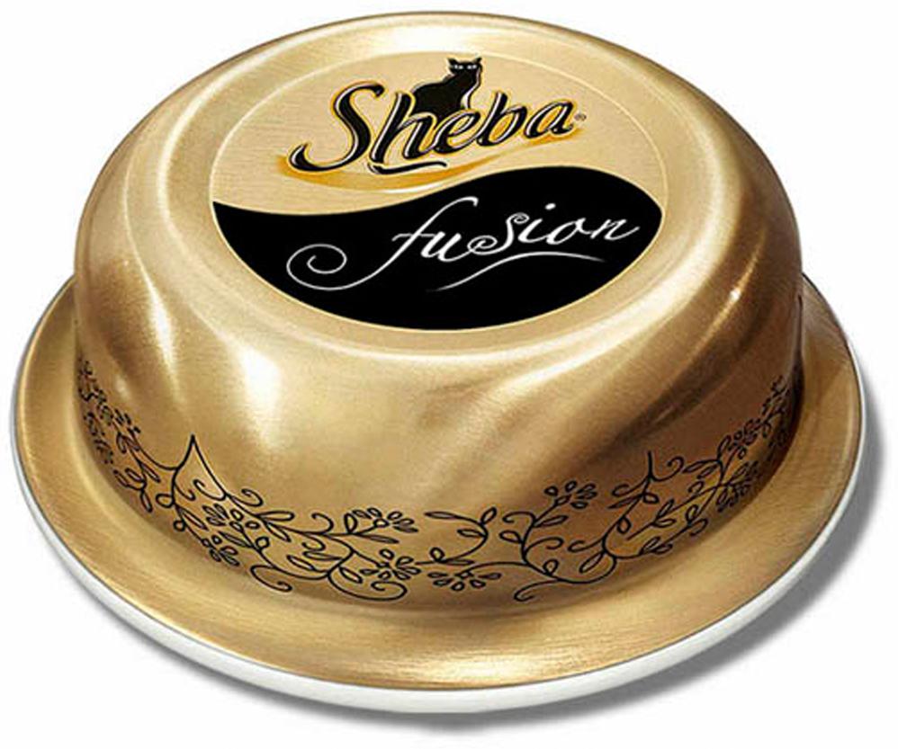 Консервы для взрослых кошекSheba, тальятта из курицы с говядиной, 80 г sheba appetito ломтики в желе с говядиной и кроликом для кошек 85г 10161708