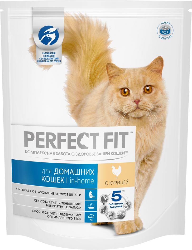 Корм сухой Perfect Fit, для домашних кошек, с курицей, 1,2 кг42008Perfect Fit с формулой In-Home специально разработан для пушистых домоседов. Сбалансированная рецептура помогает поддерживать идеальный вес кошек, редко выходящих на улицу. Клетчатка способствует мягкому пищеварению и выводит комочки шерсти из организма естественным путем, биотин, цинк и омега-кислоты делают шерсть гладкой и шелковистой. А экстракт Юкки Шидегера уменьшает неприятный запах кошачьего туалета.Товар сертифицирован.Чем кормить пожилых кошек: советы ветеринара. Статья OZON Гид