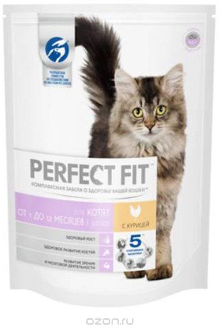 Корм сухой Perfect Fit, для котят до 12 месяцев, с курицей, 650 г41031Perfect Fit – это специально разработанный корм, созданный для того, чтобы обеспечить вашу кошку всеми питательными веществами, необходимыми для долгой и здоровой жизни.Маленьким исследователям необходимо в 4 раза больше энергии, чем взрослым кошкам. Чтобы котенок рос здоровым и сильным, ему нужно правильное питание. Корм Perfect Fit специально разработан для котят с формулой Junior. В нем содержится необходимое количество белков, минералов, а также комплекс антиоксидантов для сильного иммунитета. Для здоровья зубов и костей корм содержит кальций и фосфор. А легкоусвояемые белки и клетчатка обеспечат правильное пищеварение.Ингредиенты: дегидратированный белок птицы (курица не менее 24%), дегидратированный животный белок, животный жир, кукуруза, кукурузный глютен, кукурузная мука, рис, рисовый белок, соевая мука, сушеная свекла, дрожжи, мука из цветков календулы, витамины и минералы, соль.Гарантированный анализ: белок - 41%, жир - 14,5%, клетчатка - 2%, зола - 9%, влажность - 9%, кальций - 1,8%, фосфор - 1,6%, магний - 0,1%, цинк - 0,005%, медь - 0,001%, таурин - 0,2%, витамин А - 1500 МЕ, витамин D3 - 150 МЕ, витамин Е - 0,05%, витамин С - 0,02%.Товар сертифицирован.уважаемые покупатели!Обращаем ваше внимание на возможные изменения в дизайне упаковки. Качественные характеристики товара остались неизменными. Поставка осуществляется в зависимости от наличия на складе.