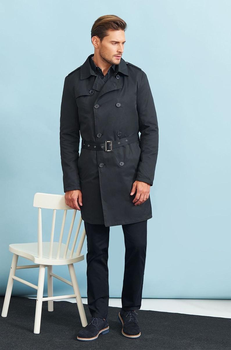 Пальто мужское Top Secret, цвет: темно-серый. SPZ0391GR. Размер XXL (52)SPZ0391GRСтильное мужское пальто Top Secret, выполненное из высококачественного плотного материала, рассчитано на прохладную погоду. Модель с отложным воротником и длинными рукавами застегивается на двубортную застежку на пуговицах. По бокам имеются два втачных кармана. Плечи оформлены хлястиками на пуговицах. Модель дополнена поясом с пряжкой. На спинке предусмотрена шлица. В этом пальто вам будет уютно и комфортно.