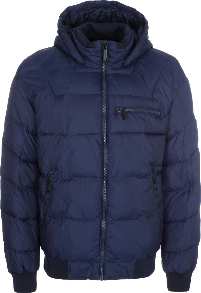 Куртка мужская Finn Flare, цвет: темно-синий. W16-42005_100. Размер L (50) платье finn flare цвет серый синий черный w16 11030 101 размер l 48