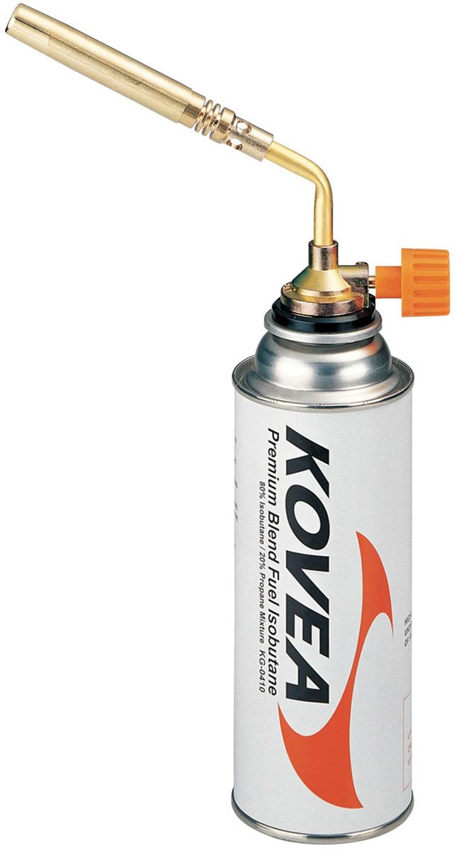 Резак газовый Kovea KT-210420-5-085Газовый резак Kovea KT-2104, исполненный в виде паяльной лампы широкого применения. Самый мощный из существующих горелок. Рассчитан для установки на высокий, цанговый газовый баллон KGF-0220. Вес: 125 г.Расход топлива: 120 г/ч.Свободное вращение: невозможно.Пьезоэлемент: есть.Brazing Torch KT-2104.