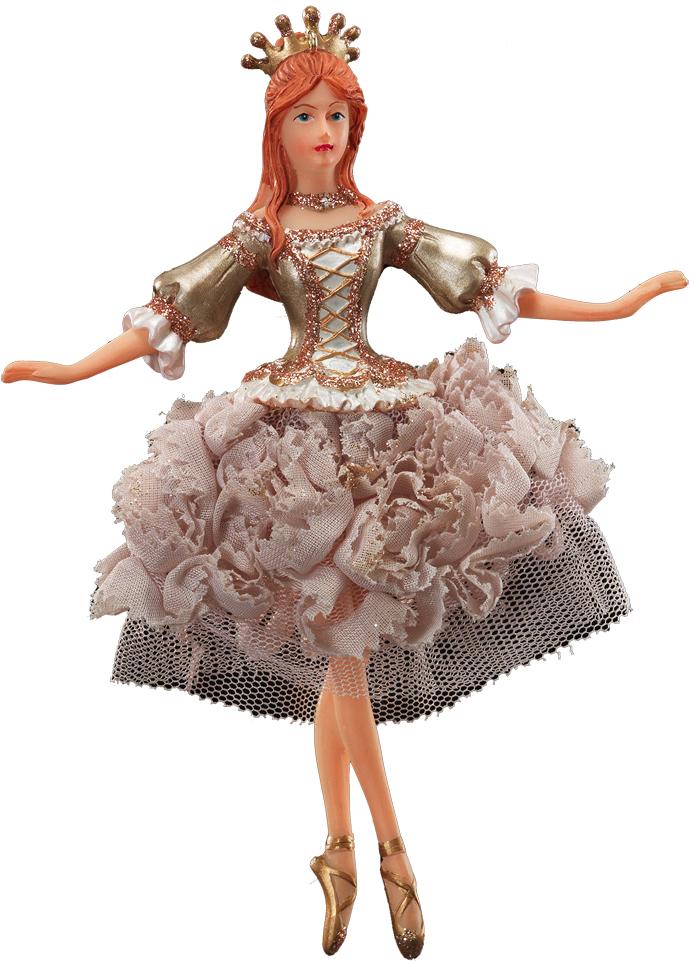 Украшение для интерьера новогоднее Erich Krause Воздушный танец. Балерина, 16,5 см41093_балеринаИзящность балерины подчеркивает изысканное платье из тафты. Корона завершает благородный образ. Новогодние украшения всегда несут в себе волшебство и красоту праздника. Создайте в своем доме атмосферу тепла, веселья и радости, украшая его всей семьей.