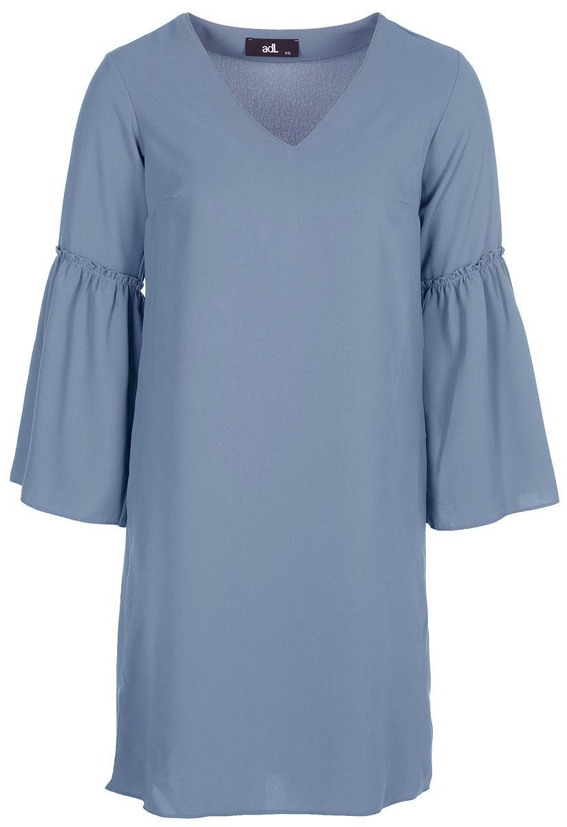 Платье женское adL, цвет: голубой. 12432072000_022. Размер XS (40/42) блуза adl adl ad005ewvpi02