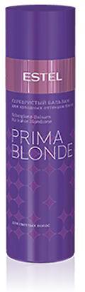 Estel Prima Blonde - Серебристый бальзам для холодных оттенков блонд 200 мл estel prima blonde блеск шампунь для светлых волос 250 мл