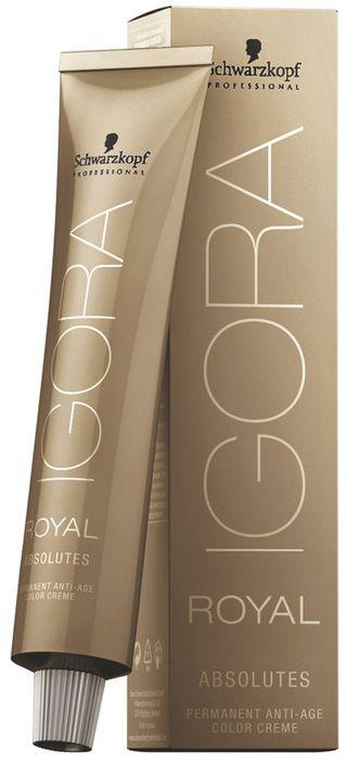Igora Royal Перманентный краситель для волос Absolutes 7-50, средний русый золотистый натуральный, 60 мл1124442Благородные фешенебельные оттенки коричневого, медного, красного и фиолетового направлений. Цвет: средний русый золотистый натуральный.