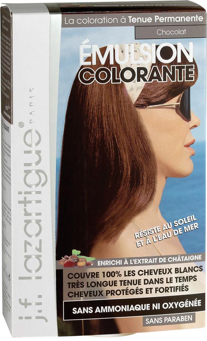 J.F.Lazartigue Оттеночная эмульсия для волос Шоколад 60 мл01729Благодаря оригинальной формуле полностью (на 100%) скрывает седину, длительное время сохраняет цвет, поддерживает здоровье и жизненную силу волос и сохраняет эти качества, несмотря на воздействие солнечных лучей, морской воды и прочих неблагоприятных экологических факторов. Не осветляет, не повреждает, а укрепляет волосы. Не содержит аммиака, перекиси водорода и парабенов. Не предназначена для окрашивания бровей и ресниц.