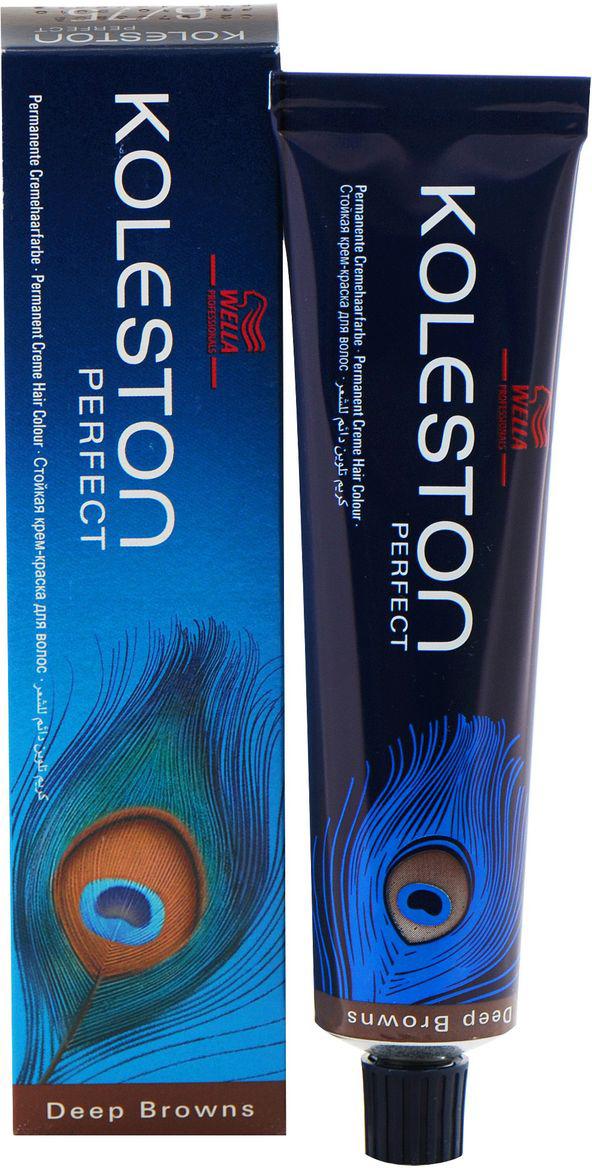 Wella Краска для волос Koleston Perfect, оттенок 33/0, Темно-Коричневый Интенсивный, 60 мл81454046/81362329Wella KOLESTON PERFECT 33/0 Темно-коричневый интенсивный предназначена для того, чтобы волосы обрели новый насыщенный и натуральный цвет, не страдая при этом. Новая разработка немецких ученых позволит сохранить хорошее внешнее состояние волос: блеск, упругость, отсутствие секущихся кончиков. Преимущество краски заключается в том, что она имеет минимальное количество вредных компонентов, а комплекс активных гранул защищает и укрепляет волосы. В составе также имеются липиды, которые придают волосам дополнительного объема без утяжеления. Молекулы и активатор играют не менее важную роль в составе. Они укрепляют корни волос, ведь именно они максимально нуждаются в питании и восстановлении. Краска имеет нежный аромат, который не вызывает аллергических реакций. Она хорошо подходит всем видам волос. Текстуру смешивают с эмульсией для достижения лучшего результата.