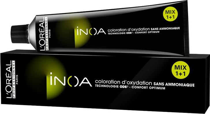 LOreal Professionnel Краска для волос Inoa ODS2, оттенок 4 Шатен, 60 млNDL8/4Краска для волос Inoa ODS2 создана на основе инновационной технологии Oil Delivery System (ODS2 доставка красителя при помощи масла), которая позволяет получить очень стойкие и великолепные яркие, насыщенные цвета. Краситель не содержит аммиака, обеспечивает осветление волос на 3 тона или окрашивание тон в тон, полностью закрашивает седину, абсолютно без повреждения структуры волос. При процессе окрашивания, благодаря уникальной технологии ODS2, краска обогащает специальными активными и защитными элементами структуру каждого волоса, при этом предотвращая потерю цвета и повреждения волос после окончания процедуры.Краситель моментально смешивается с оксидентом, невероятно легко наносится на волосы и не оказывает на кожу головы какого-либо раздражающего или негативного воздействия.Главные достоинства краски для волос INOA это:- Краситель не имеет никакого запаха, не содержит аммиака, не повреждает структуру.- Покрывает седину на 100%. - Позволяет использовать пропорцию смешивания МИКС 1+1.- Придает волосам на 50% больше блеска.