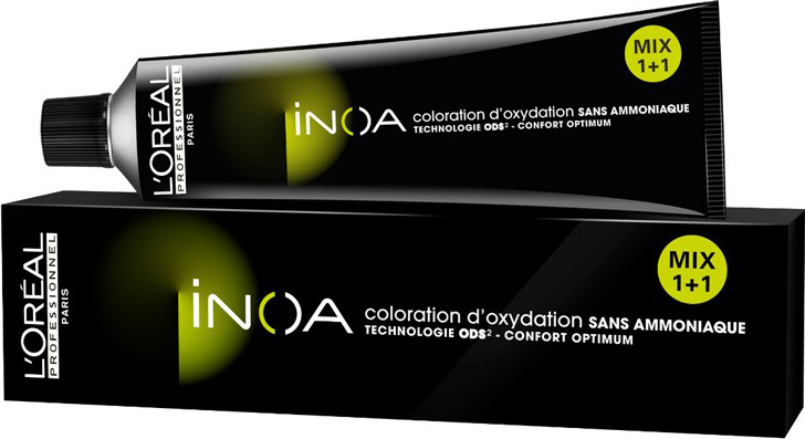 LOreal Professionnel Краска для волос Inoa ODS2, оттенок 6.0, 60 млE0619300Краска для волос Inoa ODS2 создана на основе инновационной технологии Oil Delivery System (ODS2 доставка красителя при помощи масла), которая позволяет получить очень стойкие и великолепные яркие, насыщенные цвета. Краситель не содержит аммиака, обеспечивает осветление волос на 3 тона или окрашивание тон в тон, полностью закрашивает седину, абсолютно без повреждения структуры волос. При процессе окрашивания, благодаря уникальной технологии ODS2, краска обогащает специальными активными и защитными элементами структуру каждого волоса, при этом предотвращая потерю цвета и повреждения волос после окончания процедуры.Краситель моментально смешивается с оксидентом, невероятно легко наносится на волосы и не оказывает на кожу головы какого-либо раздражающего или негативного воздействия.Главные достоинства краски для волос INOA это:- Краситель не имеет никакого запаха, не содержит аммиака, не повреждает структуру.- Покрывает седину на 100%. - Позволяет использовать пропорцию смешивания МИКС 1+1.- Придает волосам на 50% больше блеска.