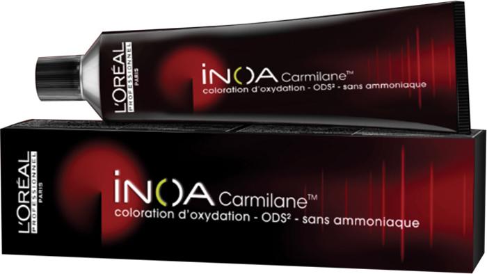 LOreal Professionnel Краска для волос Inoa ODS2 Carmilane, оттенок 6.66 Темный блондин фиолетовый интенсивный, 60 млE0989700Краска для волос Inoa ODS2 создана на основе инновационной технологии Oil Delivery System (ODS2 доставка красителя при помощи масла), которая позволяет получить очень стойкие и великолепные яркие, насыщенные цвета. Краситель не содержит аммиака, обеспечивает осветление волос на 3 тона или окрашивание тон в тон, полностью закрашивает седину, абсолютно без повреждения структуры волос. При процессе окрашивания, благодаря уникальной технологии ODS2, краска обогащает специальными активными и защитными элементами структуру каждого волоса, при этом предотвращая потерю цвета и повреждения волос после окончания процедуры.Краситель моментально смешивается с оксидентом, невероятно легко наносится на волосы и не оказывает на кожу головы какого-либо раздражающего или негативного воздействия.Главные достоинства краски для волос INOA это:- Краситель не имеет никакого запаха, не содержит аммиака, не повреждает структуру.- Покрывает седину на 100%. - Позволяет использовать пропорцию смешивания МИКС 1+1.- Придает волосам на 50% больше блеска.