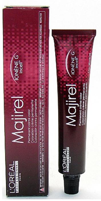 LOreal Professionnel Стойкая крем-краска для волос Majirel, оттенок 10 1/2 Очень-очень светлый блондин на 1/2 тона светлее чем 10, 50 млE0450401Oreal Professionnel Majirel Профессиональная перманентная крем-краска для волос обеспечивает легкое нанесение и равномерный насыщенный цвет. Инновационная технология окраски IONEN G + incell гарантирует отличную защиту структуры волос в процессе окрашивания и обеспечивает интенсивный уход за вашими волосами. Краситель Марижель закрашивает седину на 100% и рекомендуется к применению для любых типов волос.